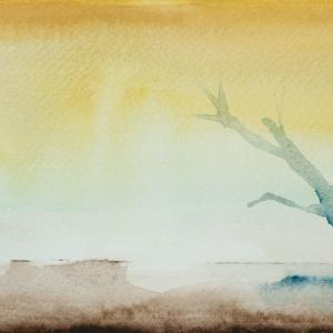 Nebbia acquerello / watercolour cm 18x11