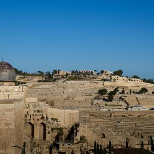 Temple Mount and Mount of Olives, Jerusalem, 2016